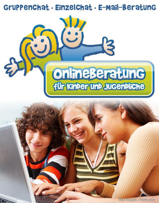 Onlineberatung für Kinder und Jugendliche. Gruppenchat, Einzelchat, E-Mail-Beratung