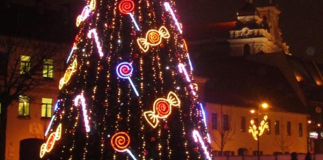 Weihnachtsbaum in Vilnius, Litauen
