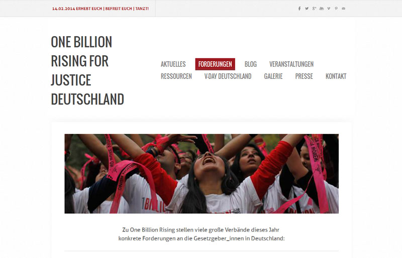 Screenshot One Billion Rising For Justice