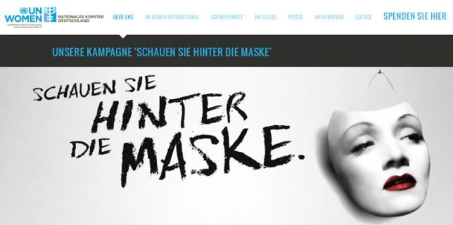 Screenshot Website UN Women