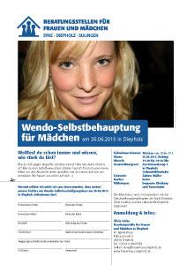 Wendo-Selbstbehauptung für Mädchen am 26.06.2015 in Diepholz