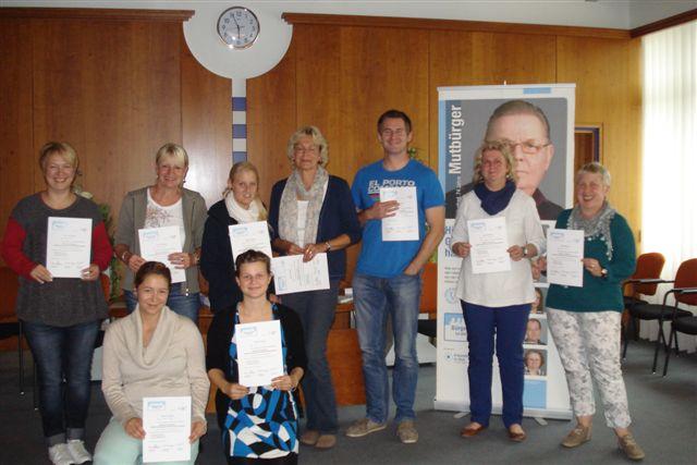 Teilnehmerinnen und Teilnehmer der Schulungen in Bruchhausen-Vilsen