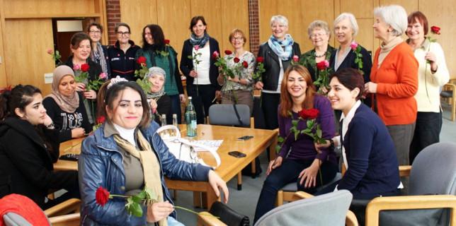 Rosen für die Frauen am Weltfrauentag, 08.03.2016