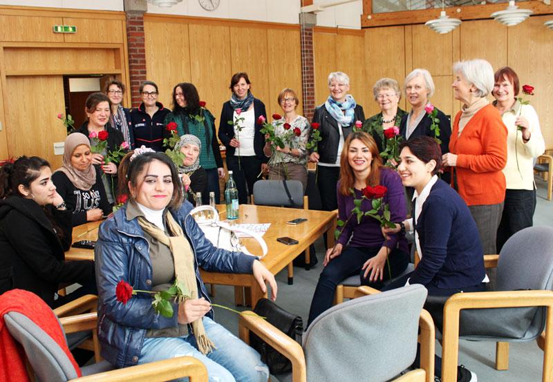 Rosen für die Frauen am Weltfrauentag, 08. März 2016